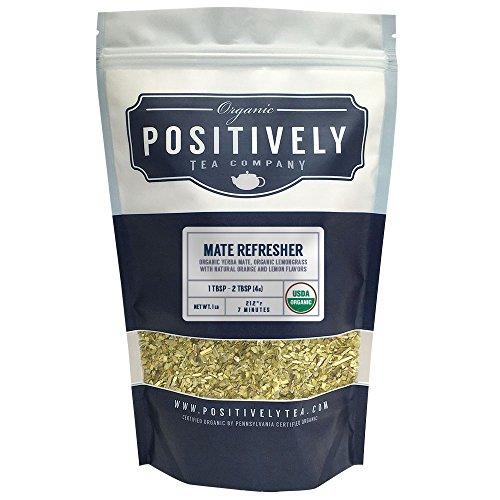 Positively Tea Company, Organic Mate Refresher, Mate Tea, Loose Leaf, USDA Organic, 1 Pound ()