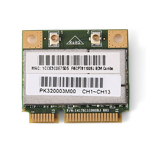 Mugast Mini Bluetooth WiFi Card, 2-in-1 PCI-E Wireless Network Card for Intel/ATI/AMD PCI-E AGP Card Computer, 150 Mbps Transmission Rate, Support 802.11 -