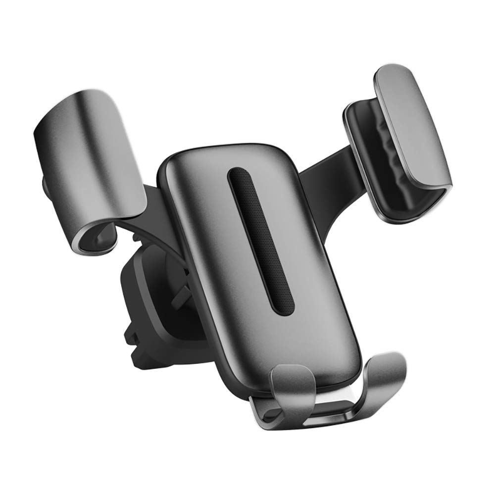 Handsfree Auto-Clamping Metal Car Phone Holder Air Vent Cell Phone Holder for Car Gray MapleSeeker Car Phone Mount Cradle Compatible for 4-6 inch iOS//Android Smartphone