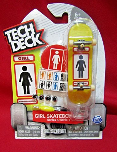2017 Tech Deck Girl Skateboards Series 3 Brandon Biebel (Chase - Ultra Rare) Finger Skateboard with Display Stand