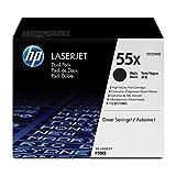 HP MAIN-80910 55X (CE255XD) Black High Yield Original LaserJet Toner Cartridges, 2 pack For LaserJet Enterprise 525, P3015 LaserJet Pro M521