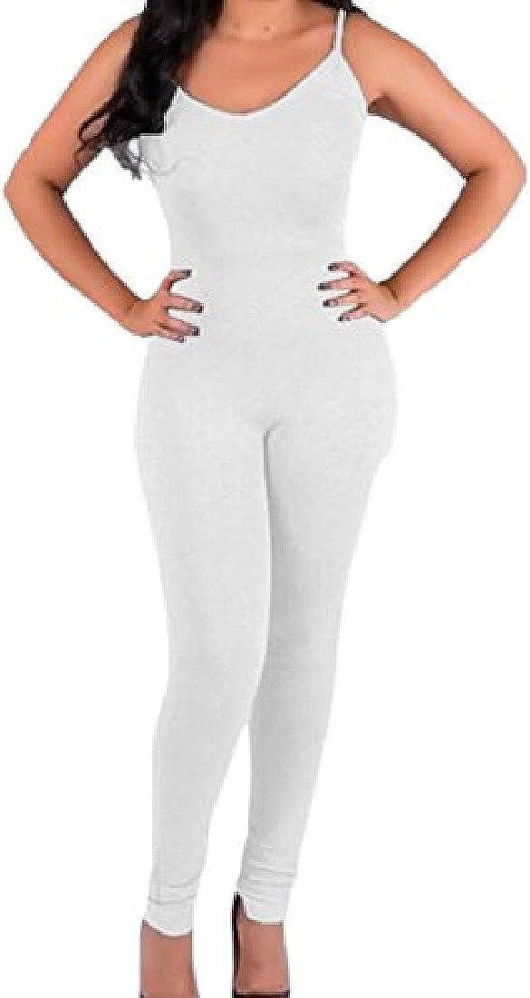 Joe Wenko Womens Casual Long Sleeve Romper Playsuit Slim Fit Jumpsuit