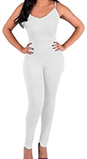 7ad489149959 Honey GD Women s Sexy Bodycon Solid Backless Jumpsuits Playsuit