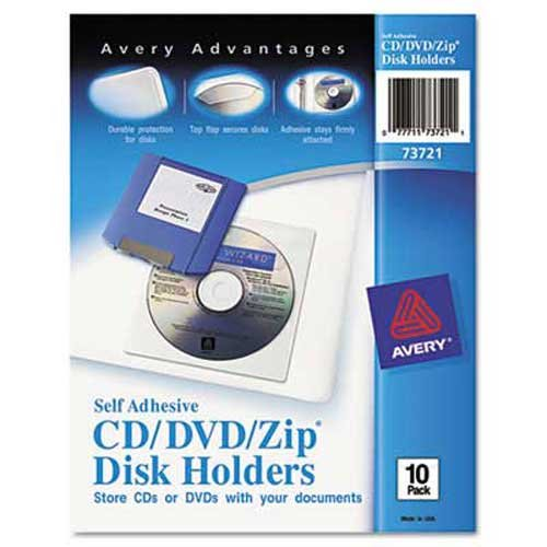 Avery Self-Adhesive Media Pockets, 10/Pack