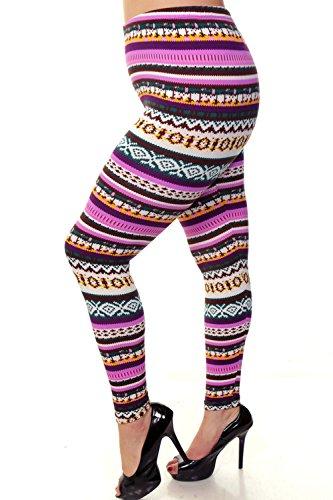 Always Plus Size Leggings - Purple Holiday Inspired - Trendy n' Popular