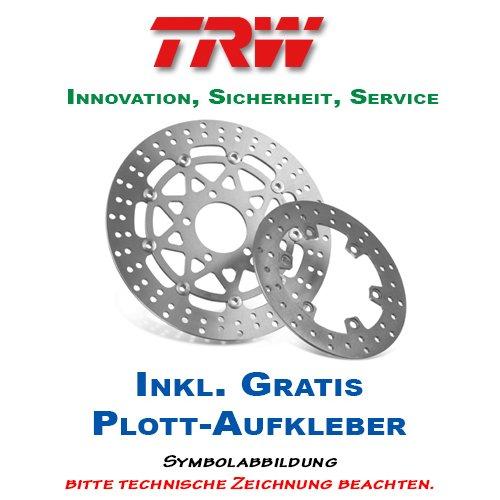 Lucas//TRW Bremsscheibe HINTEN Kawasaki KX 80 1988-2000