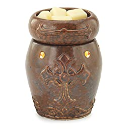 Candle Warmers Etc. Round Illumination Fragrance Warmer- Cross