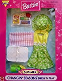 BARBIE Changin' Seasons SUMMER Dress 'N Play FASHIONS & PLAYSET Easy to Dress w OUTFIT, Picnic BASKET, PLAY FOOD & More (1998 Arcotoys, Mattel)