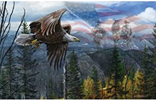 product image for SUNSOUT INC May Freedom Fly Forever - USA Bald Eagle Puzzle - 550 pc Jigsaw Puzzle