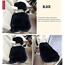 XUEER Universal Full Set of Deluxe Sheep Skin Wool Car Seat Cover Chair Pad