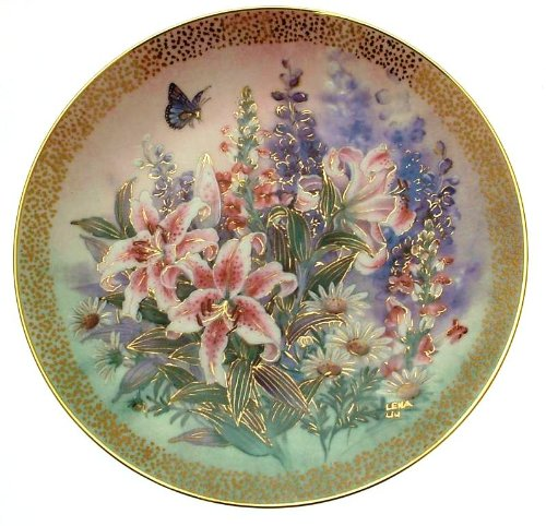 Bradford Collectible Plates Exchange - Bradford Exchange c1991 Lena Liu Lily Concerto Symphony of Shimmering Beauty plate CP1560