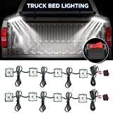 truck accessories lights - AUDEW 2Pcs 4 Pods 24Led Truck Bed Light Strips 2400 Lumens Total Unloading Cargo Light with On/Off Switch IP67 Waterproof for Pickup Truck, RV, SUV, Boats, Ice House (White)