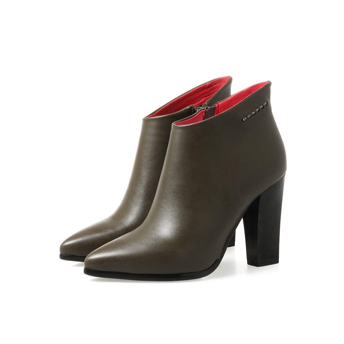 Damenschuhe Wilde einfache Stiefel absätzen hohen mit Frauen