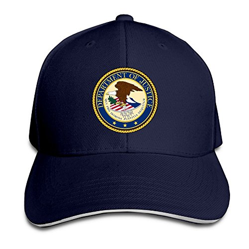 Unisex Adjustable Sandwich Cap Solid Colors Trucker Hats For Seal Of The United States Department Of Justice - Department Justice Seal