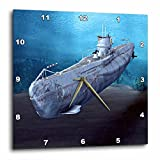 3dRose dpp_62982_1 Military Submarine Wall Clock, 10 by 10-Inch For Sale