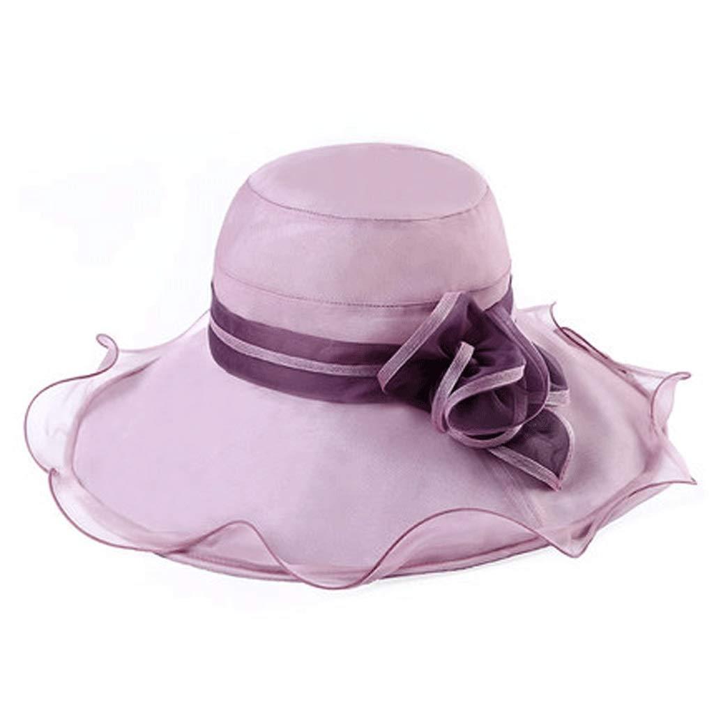 B ZHANGHAIMING UPF + 50 Visière D'été Pour Femme, Chapeau De Predection UV Beach Hat Chapeau De Soleil 5 colors (color   B)
