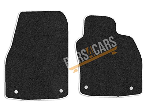 4 Piece Set With 3 Clips Onwards Carsio Tailored Black Carpet Car Mats for Viva 2015