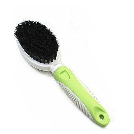 UEETEK Mascotas peine cepillos de doble cara para perro grooming cepillos para gato (Verde)