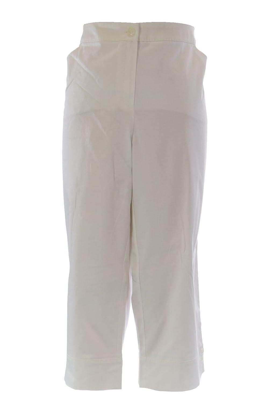 MARINA RINALDI by MaxMara Bismarck White Cropped Dress Pants