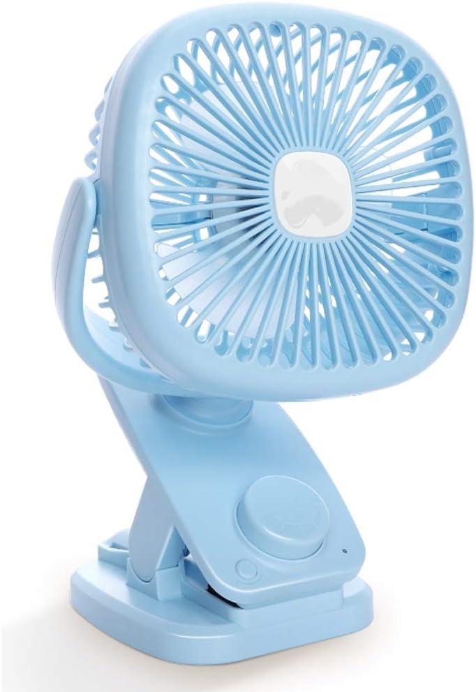 Color : B DR Automatic Shaking Head Small Fan USB Mini Mute Desktop Desktop Wind Wind Charging Student Dormitory Bed Small Apartment Portable Handheld Baby Car Mini Clip Fan