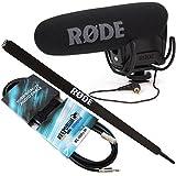 Rode Videomic Pro Rycote Kamera Richtmikrofon + Micro Boompole 2m + KEEPDRUM Miniklinke 3m