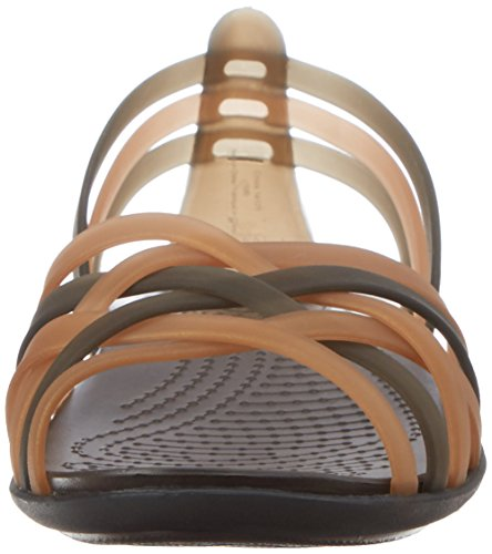 Crocs Huarache, Sandales de marche - Femme Or (Bronze/Espresso)