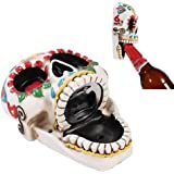 Day Of The Dead Skull Wall Mounted Bottle Opener Figurine Made of Polyresin