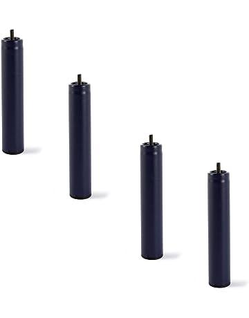 HOGAR24 4 Patas de somier ó Base tapizada, metálicas, cilíndricas con Rosca 25,