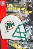 DuraPRO NFL Miami Dolphins 25 Foot Team Helmet Measuring Tape, New
