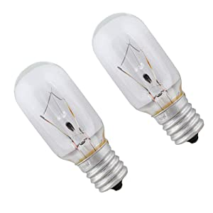Wadoy 8206232A Light Bulb 125 Volt 40 Watt for Whirlpool Microwave-Replace 1890433 8206232 AP4512653(2 pack)