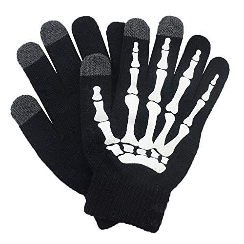 Glovion Skeleton Gloves Winter Gloves Touch Screen Gloves -White ()