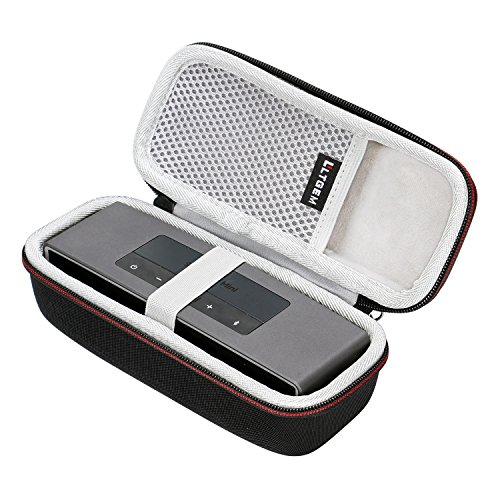 LTGEM Case for Bose Soundlink Mini/Mini 2 Bluetooth Portable Wireless Speaker - with Mesh Pocket for Accessories - Fits with The Bose Silicone Soft Cover.
