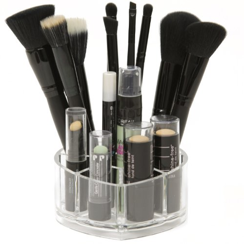 Heart Shaped Acrylic Makeup and Brush Organizer