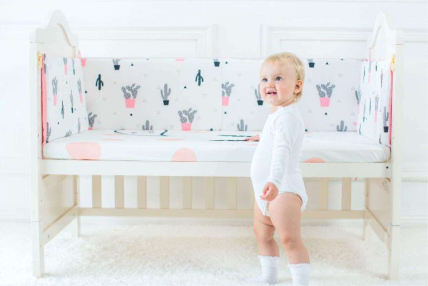 DDLL Protectores Para Cunas Y Camas De Beb/é Cuna Valla Bumper Baby Bed Baby Children Pillow Infant Cotton Coj/ín Kids Room Decoration Juguetes