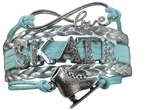 Infinity Collection Figure Skating Jewelry- Figure Skating Charm Bracelet - Perfect Ice Skating Gifts (Used Figure Skating Competition Dresses For Sale)