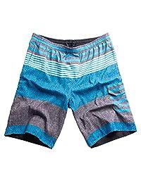 MADHERO Men Board Shorts Quick Dry Swim Trunk Without Mesh Lining