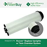 Hoover WindTunnel, EmPower, Savvy Washable Long-Life HEPA Filter, Part #s 40140201, 43611042 & 42611049. Designed by FilterBuy to fit ALL Hoover Upright Vacuum Cleaners