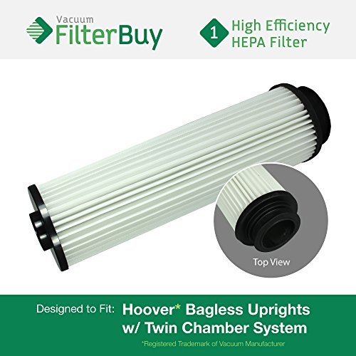 40140201 Hepa Filter Vacuum Replacement (Hoover WindTunnel, EmPower, Savvy Washable Long-Life HEPA Filter, Part #'s 40140201, 43611042 & 42611049. Designed by FilterBuy to fit ALL Hoover Upright Vacuum Cleaners)