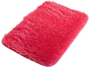 Northpoint Dreamfountain Collection Shag Memory Foam Bath Mat, 17 by 24-Inch, Diva Pink