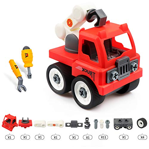 ounalong Take Apart Toys for 3 4 5 6 Year Olds Kids, Toddler DIY Fire Truck Toy Sets, Construction Toy for Boys and Girls Child Birthday Party Favors Toy Play Set