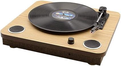 Zyy Tocadiscos Bluetooth Reproductor de Correa Tocadiscos de 3 ...