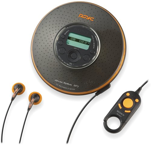 Sony D-NE320PSBLK Psyc MP3/ATRAC CD Walkman (Black) by Sony