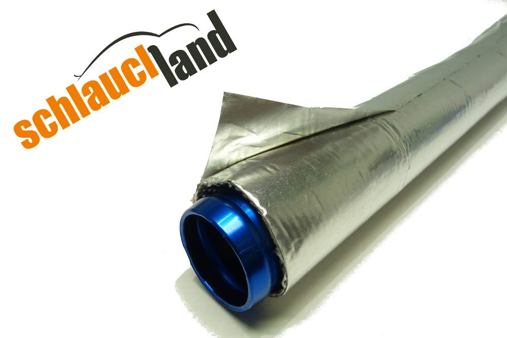 1m Alu-Titan Hitzeschutzschlauch ID 50mm gekettelt **** W/ärmeschutz Kabelschutz Mantel Gewebeschlauch /Ölleitung Benzinschlauch