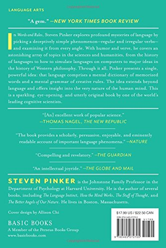 Words and Rules: The Ingredients Of Language (Science Masters Series) by Basic Books