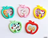 BAQI-02 Twin Pack Childrens Apple Shape Cartoon Assorted Colours Hooks - Buy 2 Packs Get 2 Packs FREE Deal!