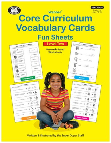 Core Curriculum Vocabulary Cards Fun Sheets Level 2 by Super Duper Staff (2012) Paperback for $<!--$30.00-->