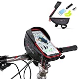 Bike Phone Mount Bag Bicycle Frame Bike Handlebar Bags With Waterproof Touch Screen Phone Case For IPhone X 8 7 6s 6 Plus 5s Samsung Galaxy s7 s6 Note 7 Cellphone Below 6.0 Inch + Rain Cover