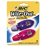 Wite-Out Mini Twist Correction Tape, Non-Refillable, 1/5'' x 314'', 2/Pack, Total 36 PK, Sold as 1 Carton