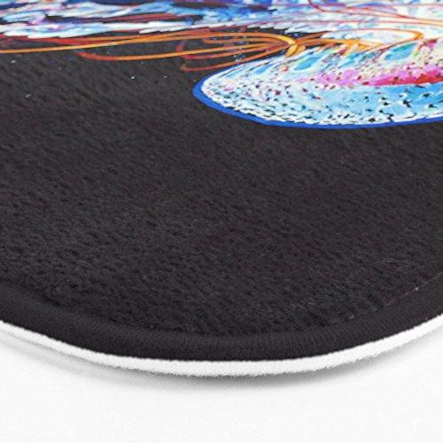 "Society6 Nebula Jellyfish Bath Mat 21"" x 34"""