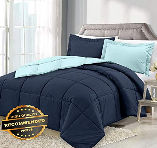 Werrox 3 Piece Reversible Down Alternative Comforter Set - Comforter with Shams | Full/Queen Size | Quilt Style QLTR-291265703 -